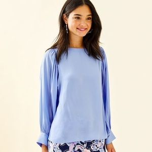 NWT Lilly Pulitzer Mauser Top (Blue Peri)